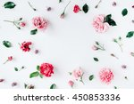 round frame wreath pattern with ... | Shutterstock . vector #450853336