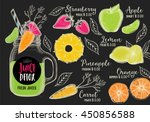juice menu placemat drink... | Shutterstock .eps vector #450856588