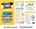 food truck festival menu... | Shutterstock .eps vector #450856600