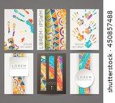 set of vector design templates. ...   Shutterstock .eps vector #450857488