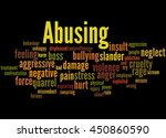 abusing  word cloud concept on... | Shutterstock . vector #450860590