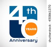 40 th years anniversary with... | Shutterstock .eps vector #450861370