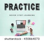 skills practice learning study... | Shutterstock . vector #450864073