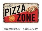 pizza zone vintage rusty metal... | Shutterstock .eps vector #450867259