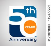 50 th years anniversary with... | Shutterstock .eps vector #450877204