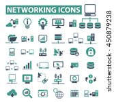 networking icons | Shutterstock .eps vector #450879238