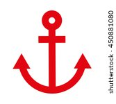 anchor red isolated icon design ...