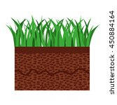 grass and terrain isolated icon ... | Shutterstock .eps vector #450884164