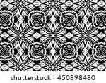 ornament with elements of black ...   Shutterstock . vector #450898480