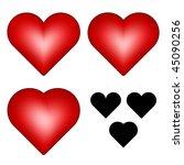 vector hearts   Shutterstock .eps vector #45090256