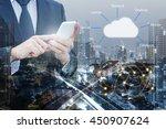 double exposure of professional ...   Shutterstock . vector #450907624