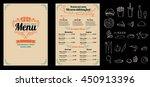 brochure or poster restaurant ... | Shutterstock .eps vector #450913396