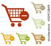 shopping cart with remove sign.... | Shutterstock . vector #450913849