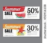 summer sale voucher template... | Shutterstock .eps vector #450916108