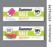 summer sale voucher template... | Shutterstock .eps vector #450916198