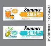 summer sale voucher template... | Shutterstock .eps vector #450916264