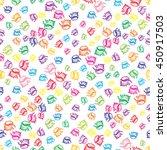 doodles seashells background...   Shutterstock . vector #450917503