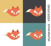 red fox icon  vector... | Shutterstock .eps vector #450919540