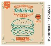 restaurant fast foods menu... | Shutterstock .eps vector #450920239