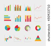 collection of business diagrams ... | Shutterstock .eps vector #450923710