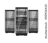 server rack with console and... | Shutterstock .eps vector #450926410