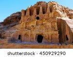 tombs of petra  jordan. | Shutterstock . vector #450929290