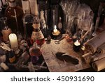 mystic still life with scrolls  ... | Shutterstock . vector #450931690