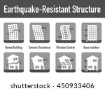 earthquake resistant structure... | Shutterstock .eps vector #450933406
