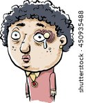 a sad cartoon woman with a... | Shutterstock .eps vector #450935488