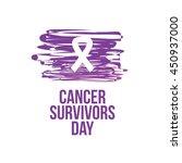 cancer survivor day campaign... | Shutterstock .eps vector #450937000