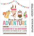 kids birthday invitation card... | Shutterstock .eps vector #450937900