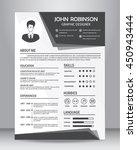 job resume or cv template... | Shutterstock .eps vector #450943444