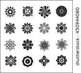 set of graphic flowers.vector... | Shutterstock .eps vector #450944080