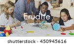 erudite academic educated... | Shutterstock . vector #450945616