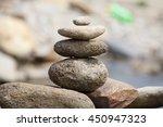pile of balanced stones as zen... | Shutterstock . vector #450947323