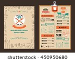 restaurant food menu design... | Shutterstock .eps vector #450950680