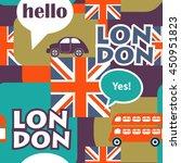 pop art british vector seamless ... | Shutterstock .eps vector #450951823