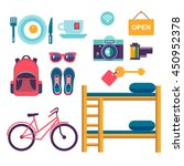 set of vector flat icons for... | Shutterstock .eps vector #450952378