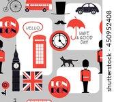 grey retro cartoon british... | Shutterstock .eps vector #450952408