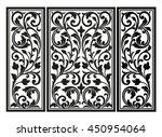 vector vintage border frame... | Shutterstock .eps vector #450954064