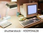 Retro Interior Office Desk In...