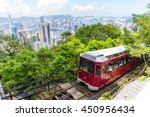 victoria peak tram and hong... | Shutterstock . vector #450956434