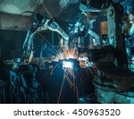 welding robots movement in a... | Shutterstock . vector #450963520