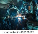 welding robots movement in a... | Shutterstock . vector #450963520
