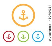 colorful anchor icons with rings