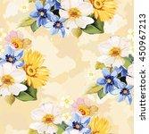 seamless pattern blue white... | Shutterstock .eps vector #450967213