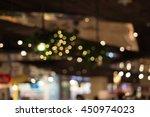 bokeh yellow light background   Shutterstock . vector #450974023