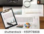 financial printed paper charts  ... | Shutterstock . vector #450978808