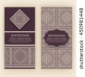 vector invitation  cards with... | Shutterstock .eps vector #450981448