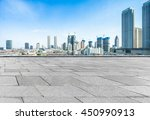empty pavement and modern... | Shutterstock . vector #450990913
